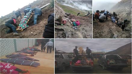 Conozca en imágenes el penoso rescate de fallecidos en San Marcos