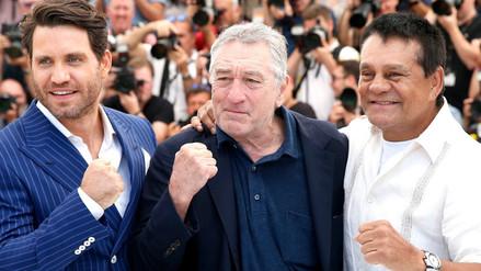 Cannes 2016: Mano de Piedra posa junto a Robert De Niro en la alfombra roja