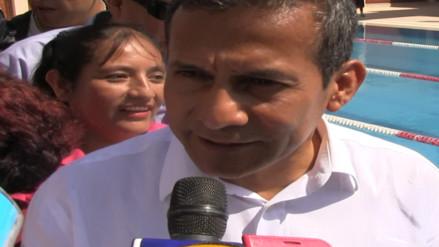 """Humala: """"Al margen del calor del debate, es importante que los candidatos continúen las obras"""""""