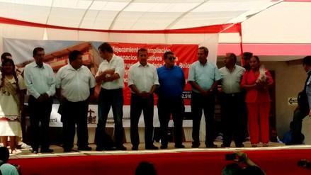 Presidente Ollanta Humala inaugura colegios en Lambayeque