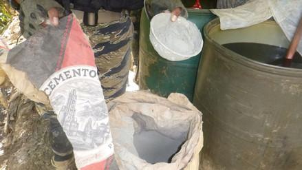 Vraem: narcotraficantes utilizan cemento para elaborar droga