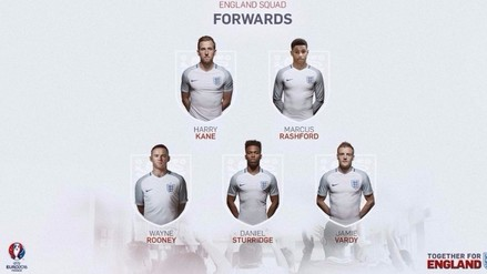 Eurocopa: Wayne Rooney encabeza pre-lista de Inglaterra