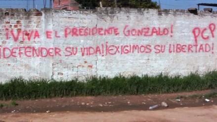 Huancayo: hallan pintas subversivas en el sector de Palian