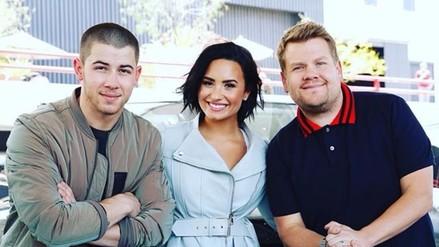 Demi Lovato y Nick Jonas cantaron a dúo en el carpool de James Corden