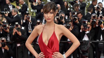 Cannes: modelo alborotó la gala con sexy vestido rojo