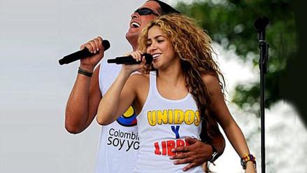 Shakira llega a Colombia para grabar video con Carlos Vives