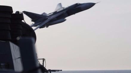 Aparece nuevo video de cazas rusos sobrevolando a buque estadounidense