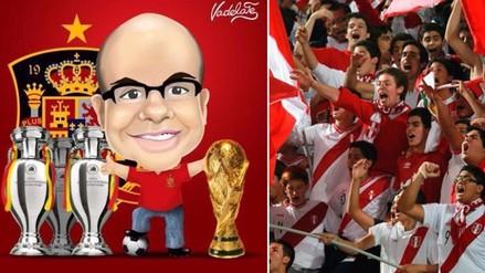 Twitter: Mister Chip troleó hincha peruano que criticó a España