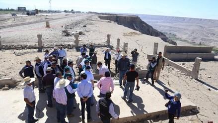 Premier inspecciona zona de deslizamientos en Majes