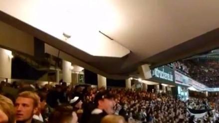 Eintracht Frankfurt: aficionados hicieron temblar graderías de su estadio