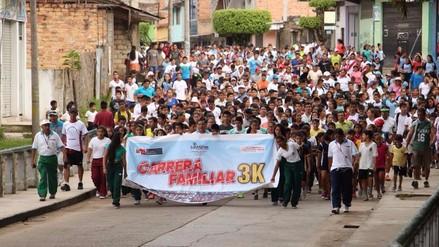 Padres e hijos participaron de maratón en Moyobamba