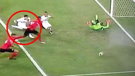 Perú vs. Trinidad y Tobago: palo evitó el gol de Luiz Da Silva