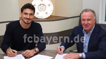 Bayern Munich: Mats Hummels firmó contrato y fue presentado oficialmente