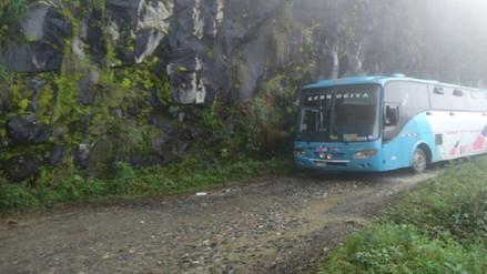 Bloquean vía en distrito de Huancabamba para exigir mantenimiento