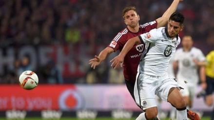 Carlos Zambrano: Eintracht Frankfurt venció 1-0 al Nuremberg y salvó la categoría