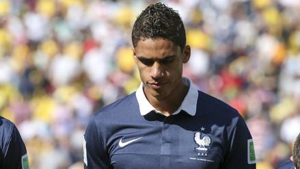 Raphael Varane de Francia fue descartado de la Eurocopa por lesión