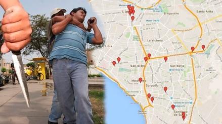 Conoce las zonas donde actúan los raqueteros y cogoteros en Lima, según PNP