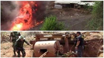 Otuzco: Policía destruye campamentos de minas informales en Salpo