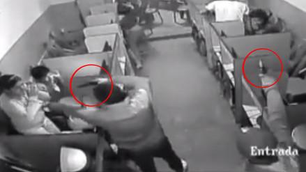 Sujetos armados asaltan cabina de internet en Ica