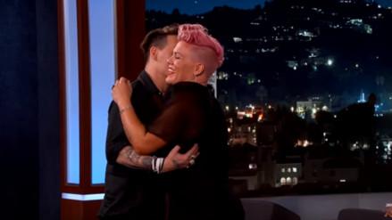 YouTube: P!nk conoce a Johnny Depp y se emociona al verlo