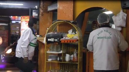 Huancayo: intervienen chifas insalubres del centro de la ciudad