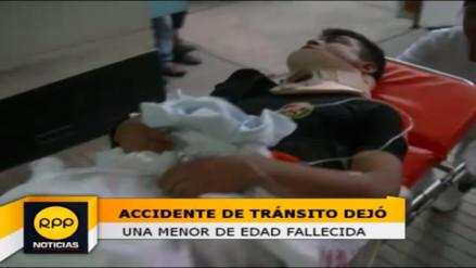 Una menor fallecida y 40 policías heridos dejó accidente en Abancay