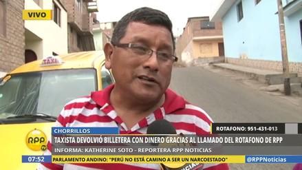 Taxista devolvió billetera con casi S/300 olvidada en su vehículo