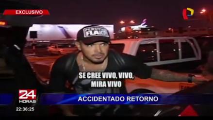 Selección Peruana: Juan Vargas tuvo accidentado regreso al país
