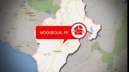 Sismo de 3.9 grados sacudió Moquegua