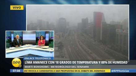 Senamhi: Lima seguirá con neblina y la Sierra sufrirá heladas