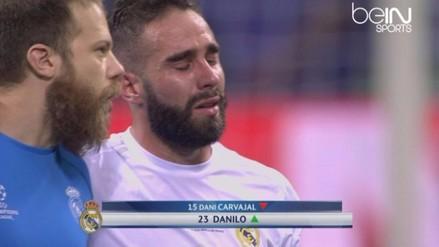 Real Madrid vs. Atlético: Daniel Carvajal lloró tras salir lesionado