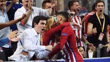 Real Madrid vs. Atlético: Carrasco puso el empate y celebró con efusivo beso