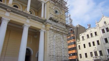 Chiclayo: inician pintado de la iglesia Santa María Catedral