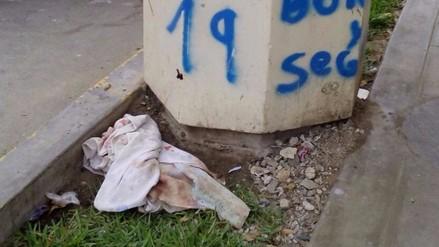 Chiclayo: hallan feto en una jardinera cerca a posta de Mosefú