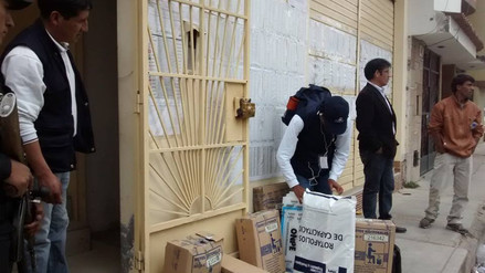 Material electoral llegó a Cajamarca en estrictas medidas de seguridad