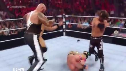 WWE: John Cena fue atacado por The Bullet Club en su regreso a Raw