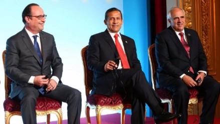 Presidente sostuvo encuentro con presidente de Francia François Hollande