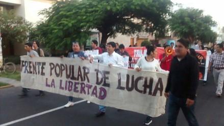 Marcha contra Keiko Fujimori: en Trujillo inicia protesta frente a UNT
