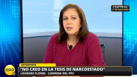 VIDEO: Lourdes Flores dice que votará por PPK y que espera no hacerle daño