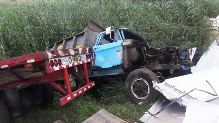 Chancay: choque entre dos camiones dejó dos heridos en la Panamericana Norte