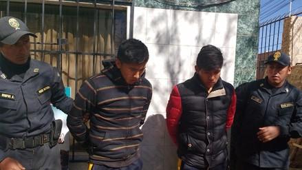 Juliaca: capturan a dos miembros de la banda 'Los Cogoteros de la Rinconada'