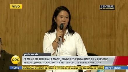 """Keiko Fujimori: """"PPK no tiene la mano firme para luchar contra la inseguridad"""""""