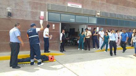 Se ejecutó un simulacro de sismo en Hospital Regional de Lambayeque