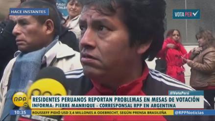 Denuncian tardanza en apertura de mesas de votación en Argentina
