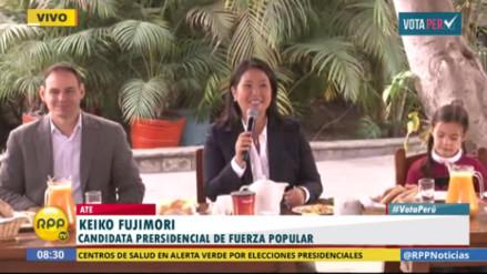 Keiko Fujimori en el desayuno electoral: