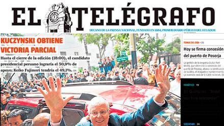 Fotos: así informan los diarios extranjeros sobre las elecciones en el Perú
