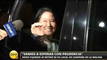 Keiko Fujimori dice que esperará resultados finales con prudencia