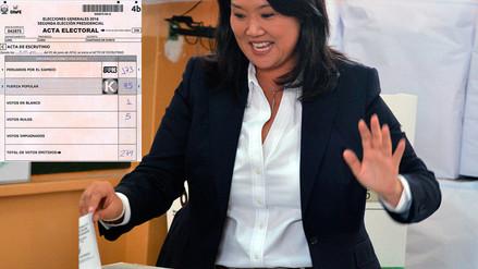 Keiko Fujimori perdió contra PPK en su mesa de votación