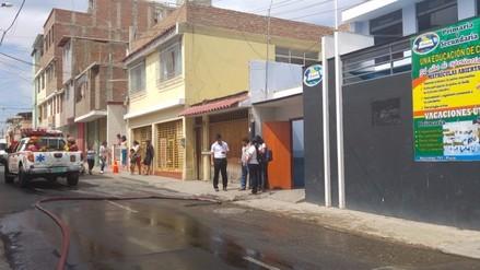 Derrame de ácido nítrico en colegio de Piura causó alarma