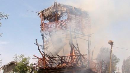 Incendio arrasa con el mirador del Museo Histórico de Zaña